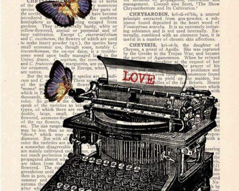 Detalle maquina de escribir, La magia de leer