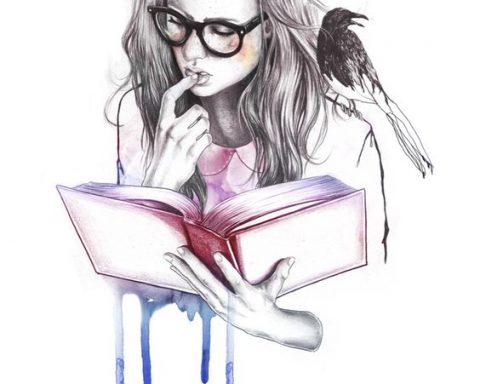 Detalle foto chica leyendo, La magia de leer